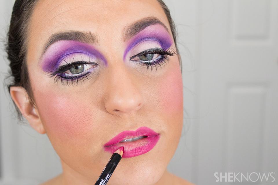 Barbie Halloween Makeup: Step 22