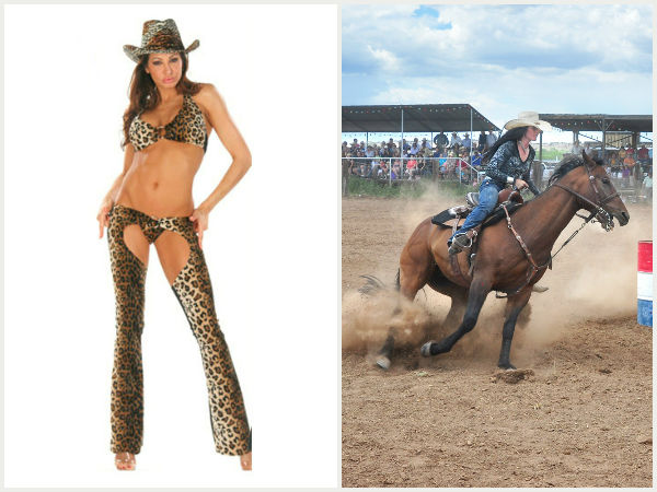 Come-hither cowgirl