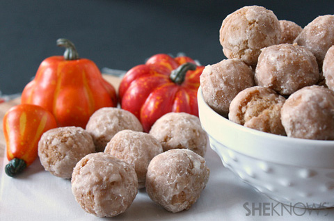 Fried pumpkin doughnut drops