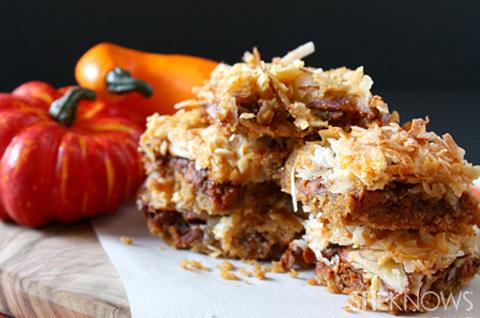 Pumpkin seven-layer bars