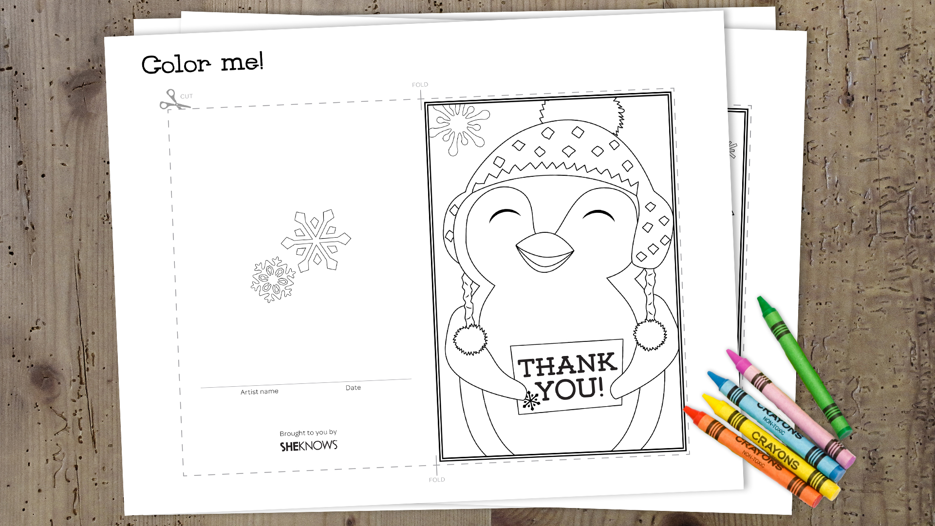 Wrap up the holidays with these printable 'thank you' cards for kids: www.sheknows.com/parenting/articles/1055275/printable-holiday-thank...