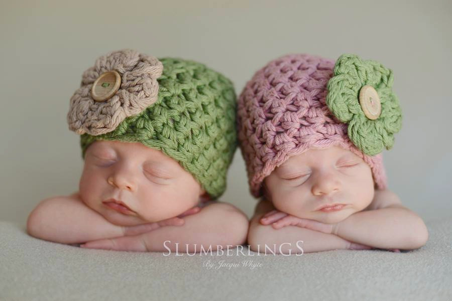 twin hats sage and green