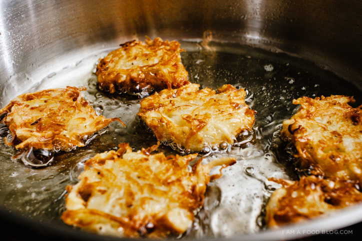 14. Classic latkes (potato pancakes) recipe