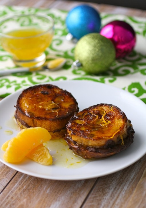 14. Chocolate-stuffed panettone French toast with orange syrup recipe