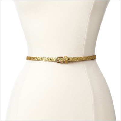 French Connection Glitter Skinny Belt