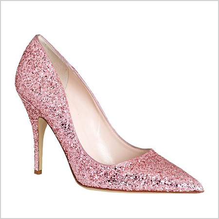 Kate Spade New York Licorice Pump in Pink Glitter