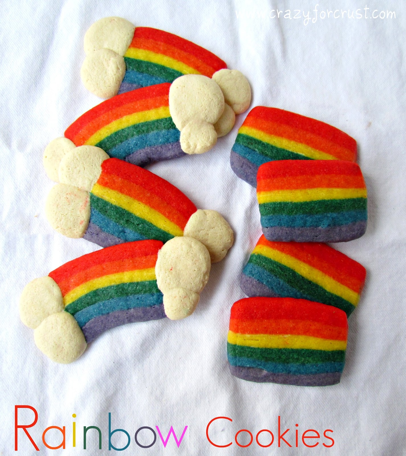 Slice-and-bake rainbow cookies recipe