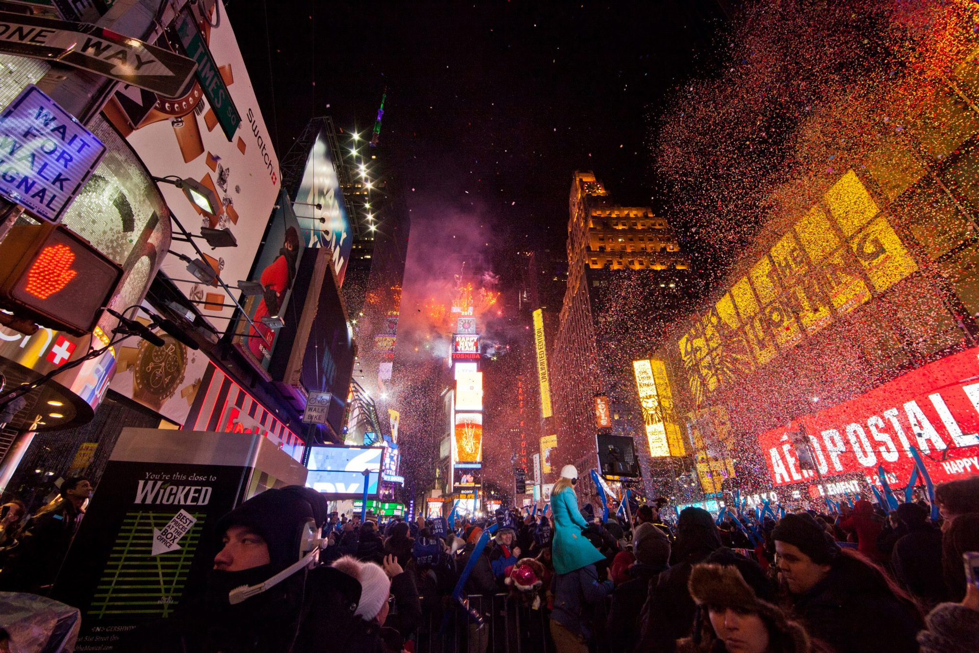 NYC Times Square NYE celebration