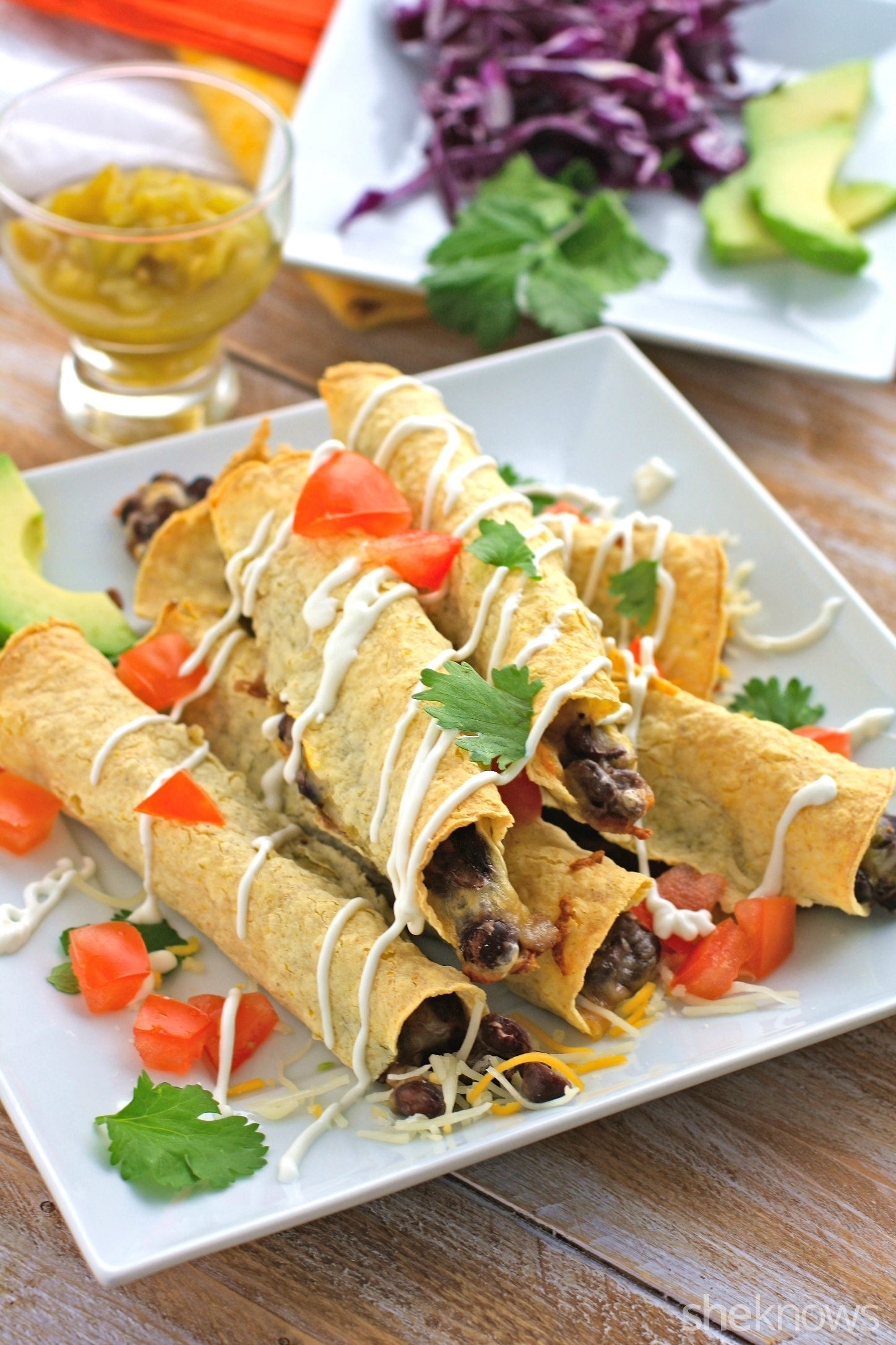 Meatless Monday: Baked black bean and green chile taquitos
