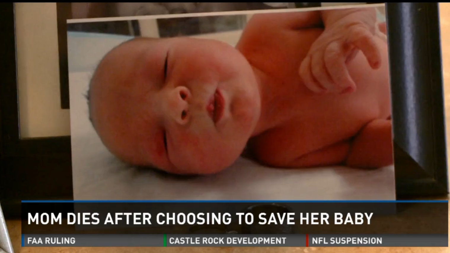 Mom dies after choosing to save baby