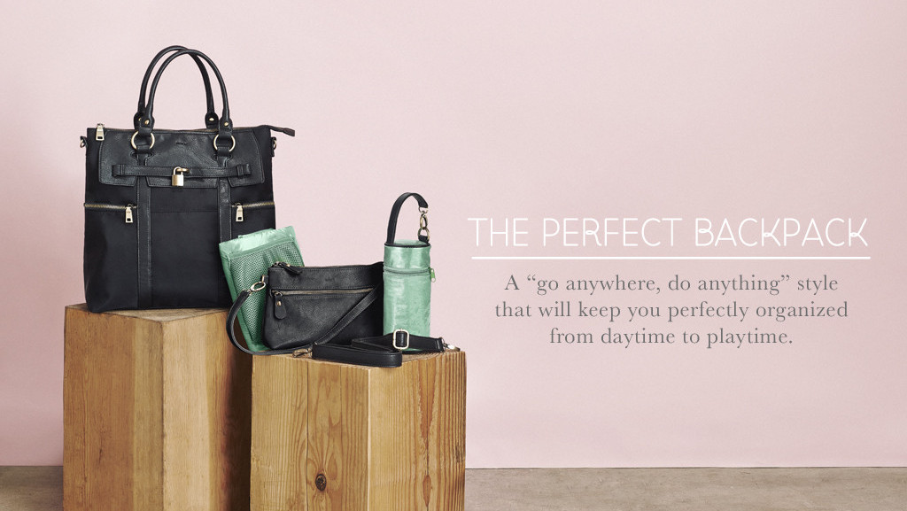 Newlie backpack and diaper bags