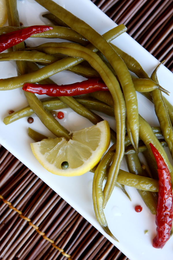 12. Spicy pickled green beans recipe