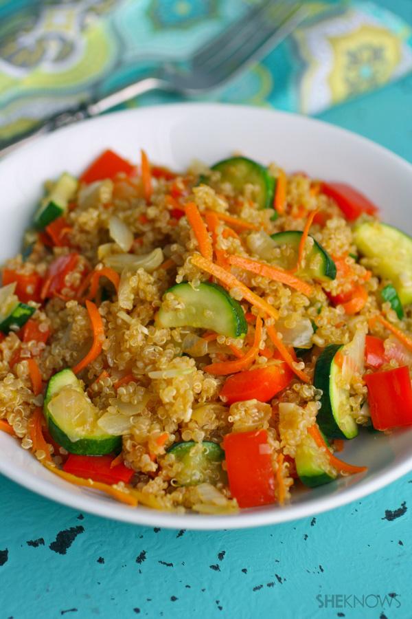 gluten-free quinoa and veggie stir-fry