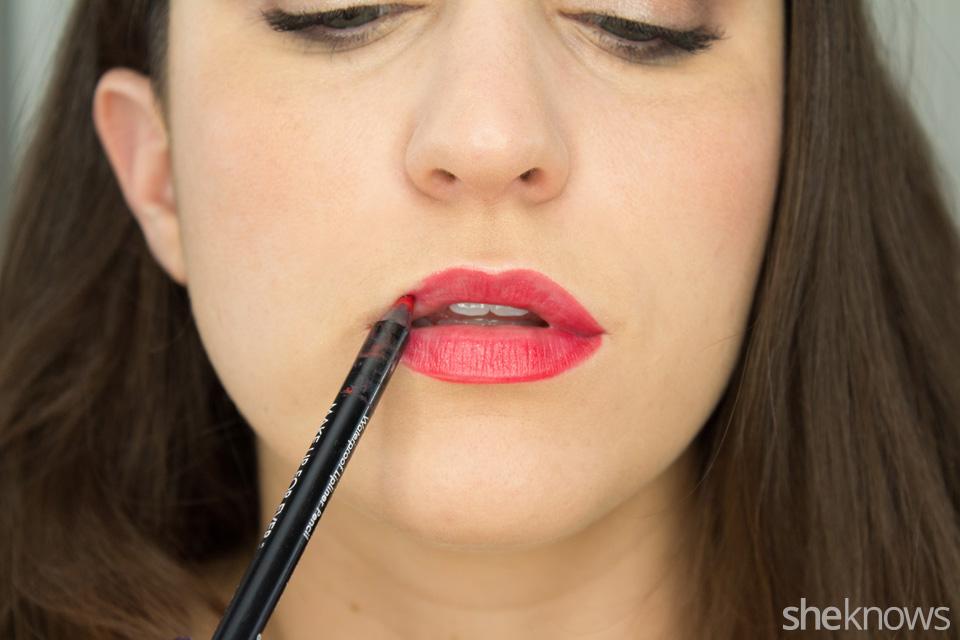 glitter lipstick tutorial: Step 2