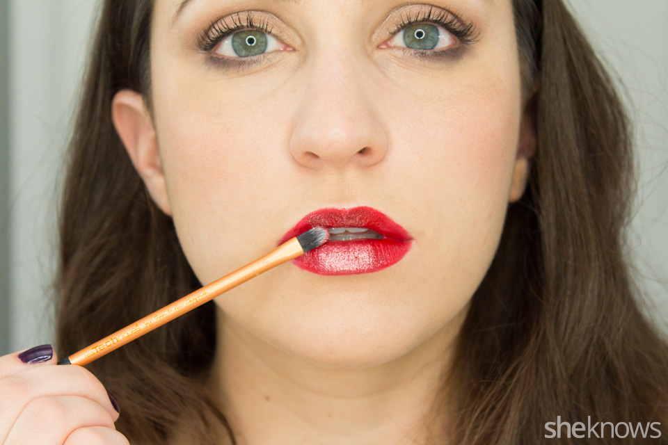 glitter lipstick tutorial: finished