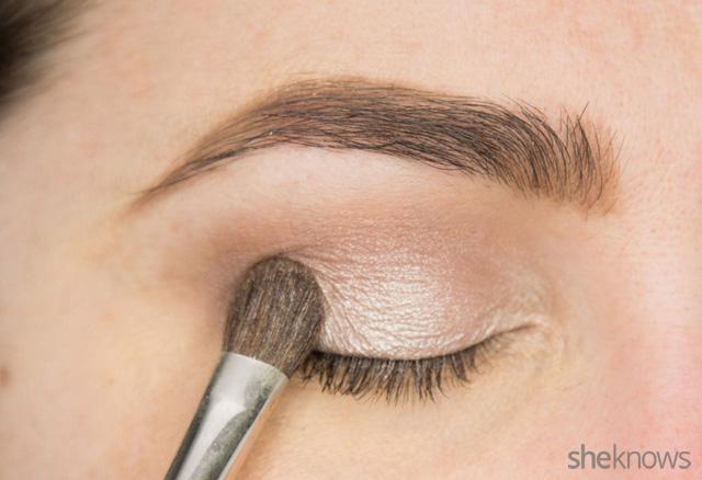 A glitter eye makeup tutorial: Step 2