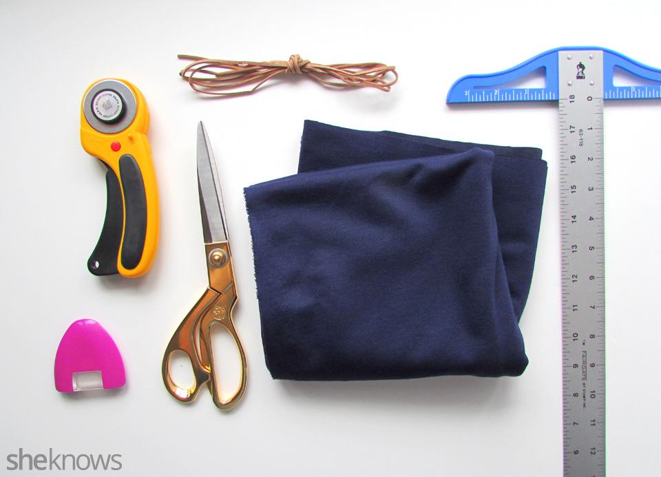 DIY adorable tie top: Supplies