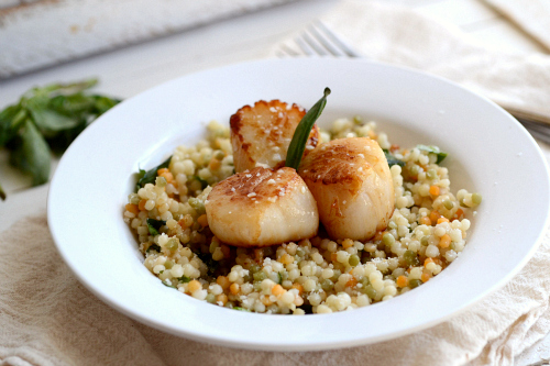 scallops couscous