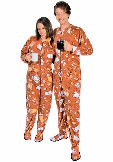 Coffee footed pajamas