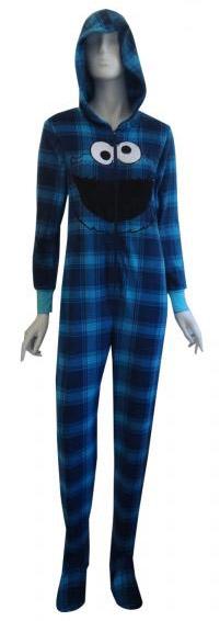Cookie Monster Footed Pajamas