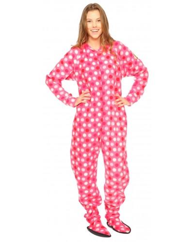 Polka dot footed pajamas