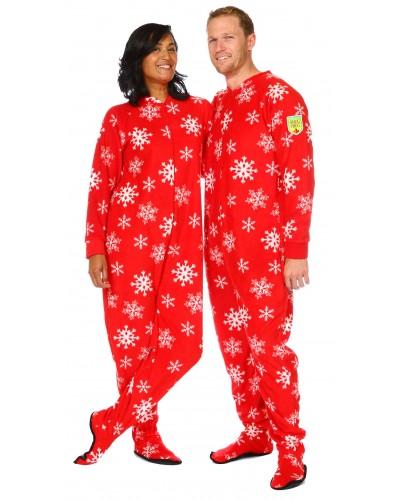 Snowflake Footie Pajamas