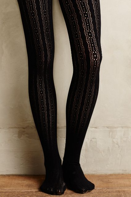 striped noir tights