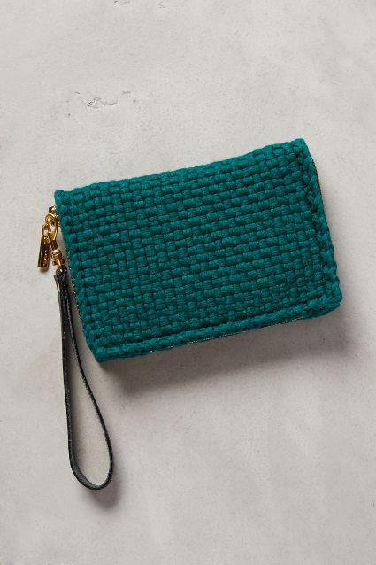 moss weave wristlet