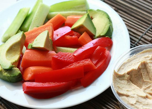 Hummus and vegs