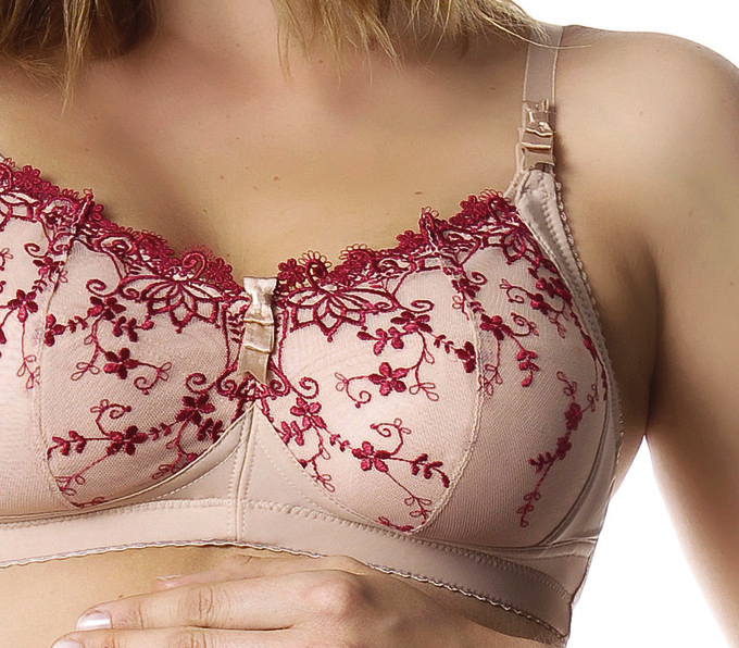 Dawn red nursing bra