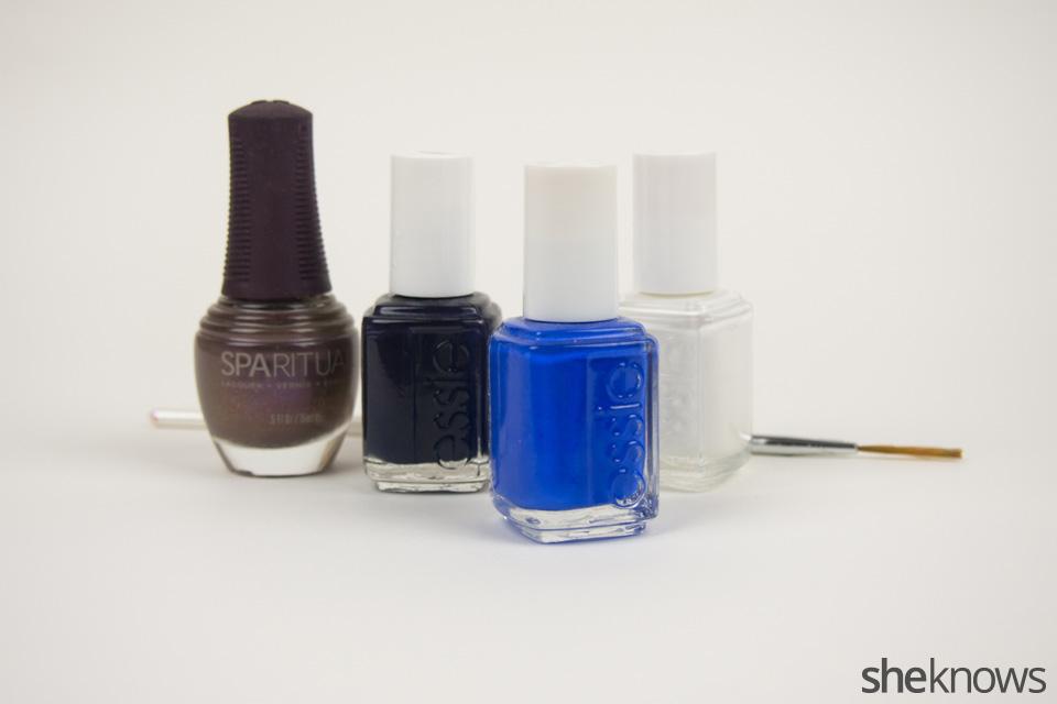 Colts Nail Art: Supplies