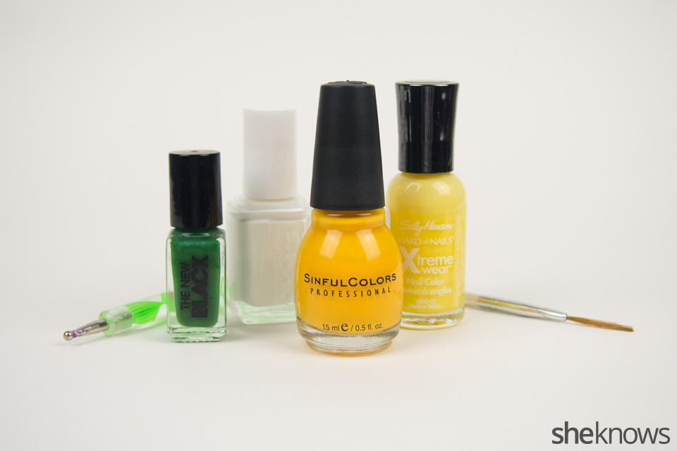 Packers Nail Art: Supplies