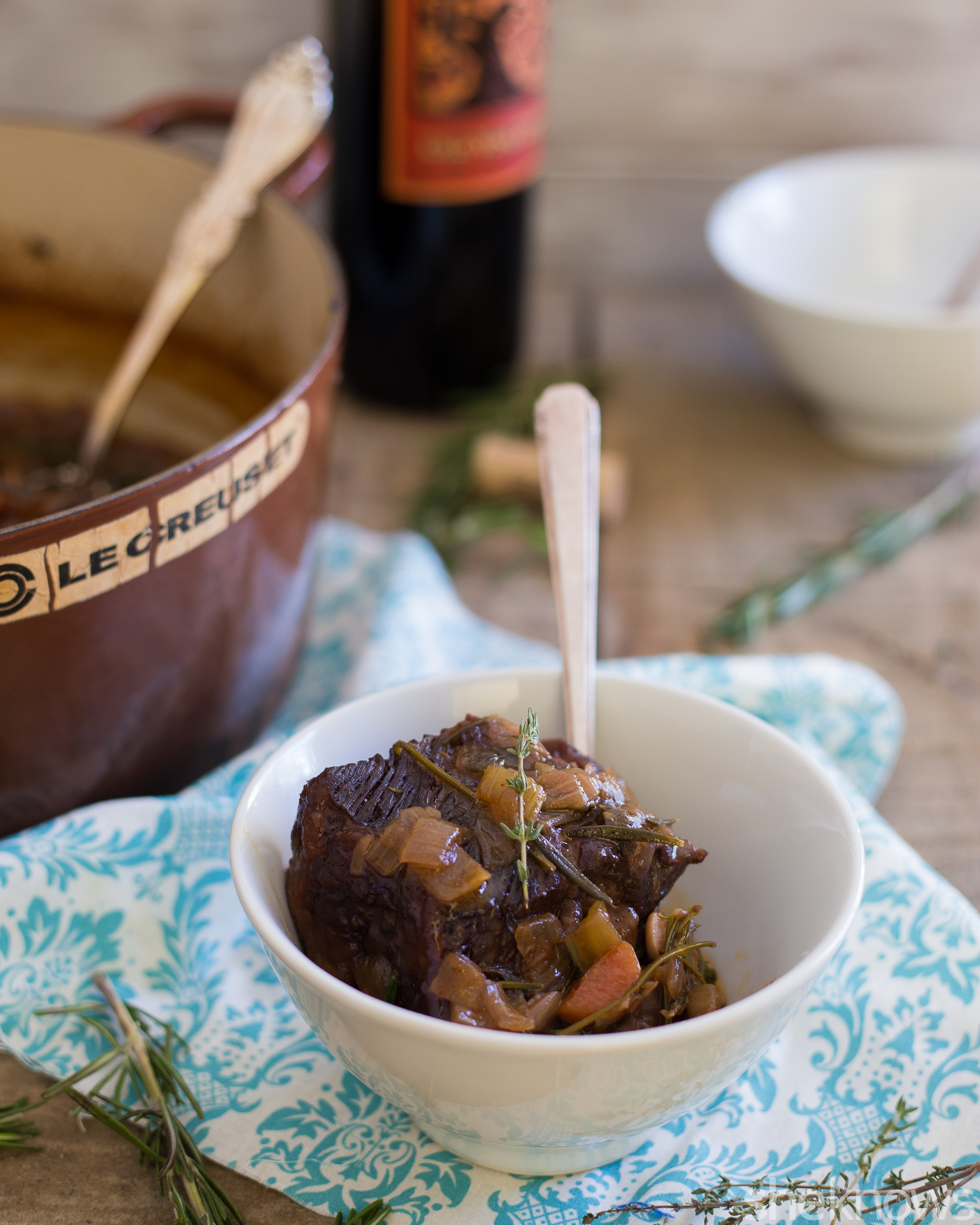 Red wine-braised short ribs are an elegant but easy meal for date ...