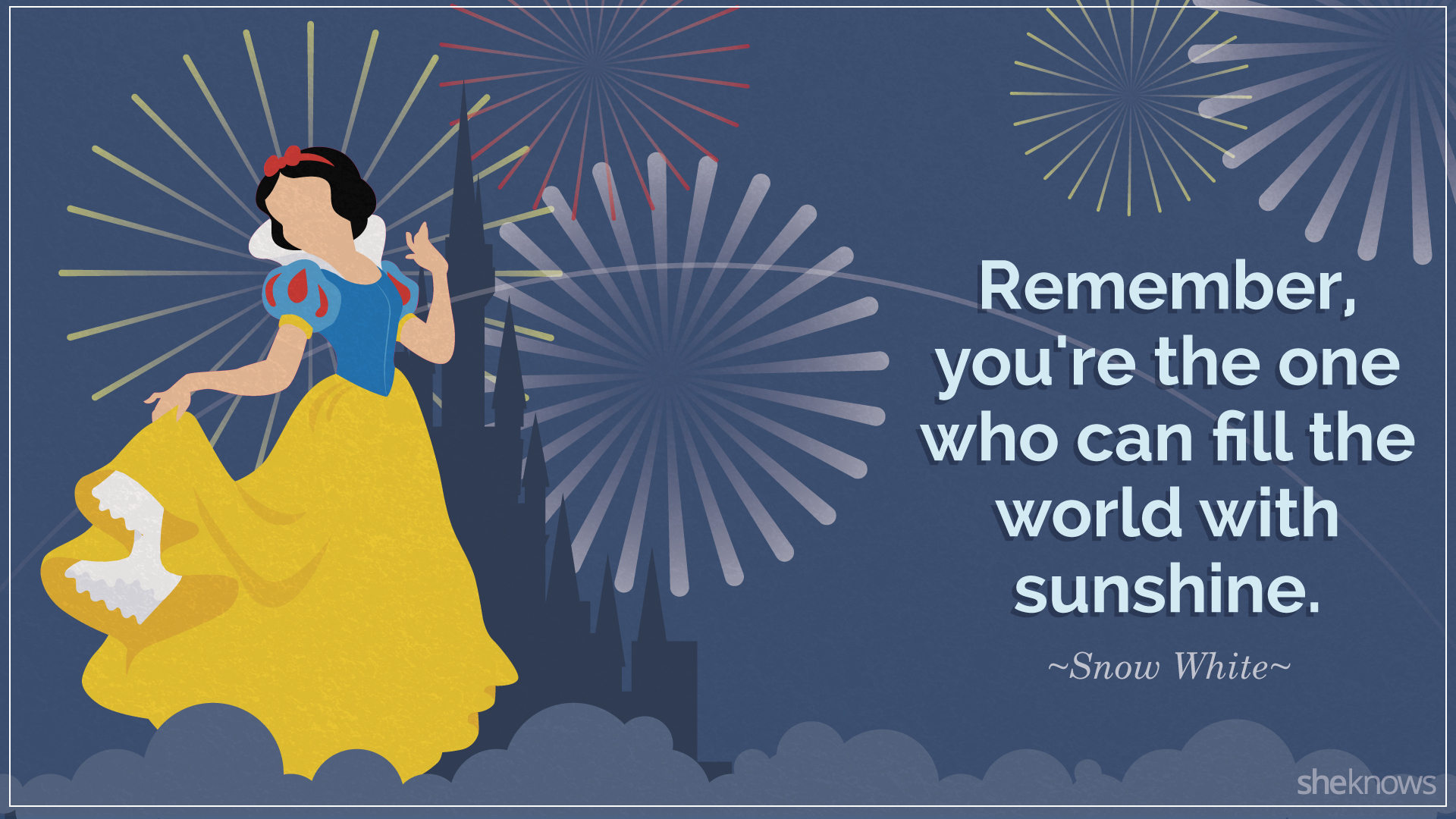 snow white inspirational quote