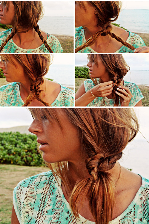 Knotted Braid Side Pony Tutorial