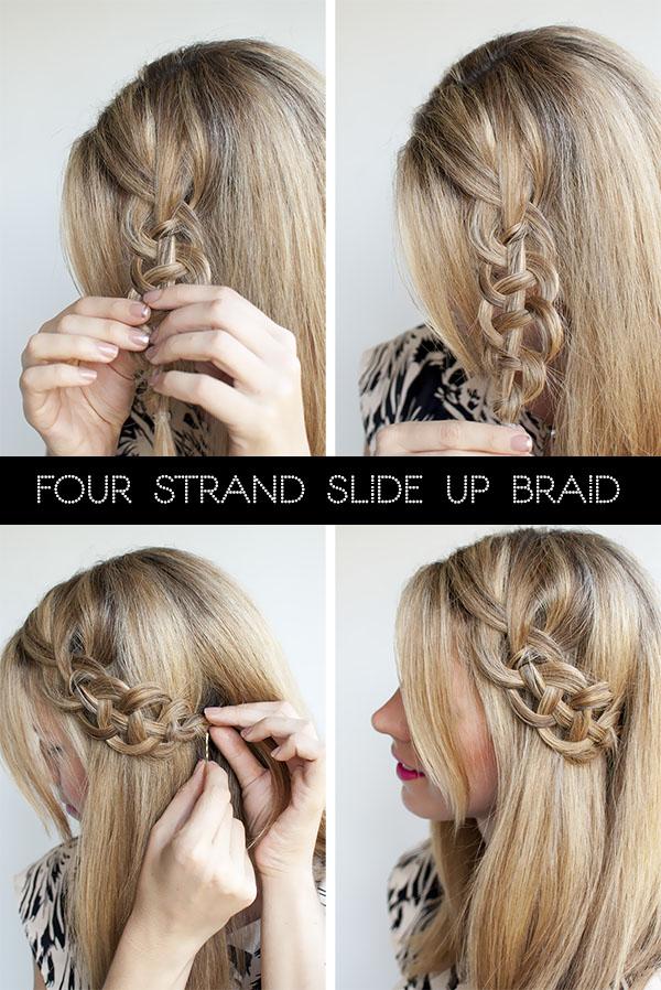 Four Strand Slide Up Braid Tutorial