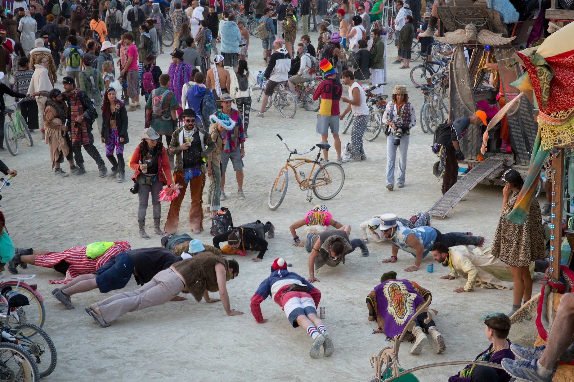 The Burning Man festival takes place in the desert