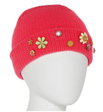 flower embellished hat