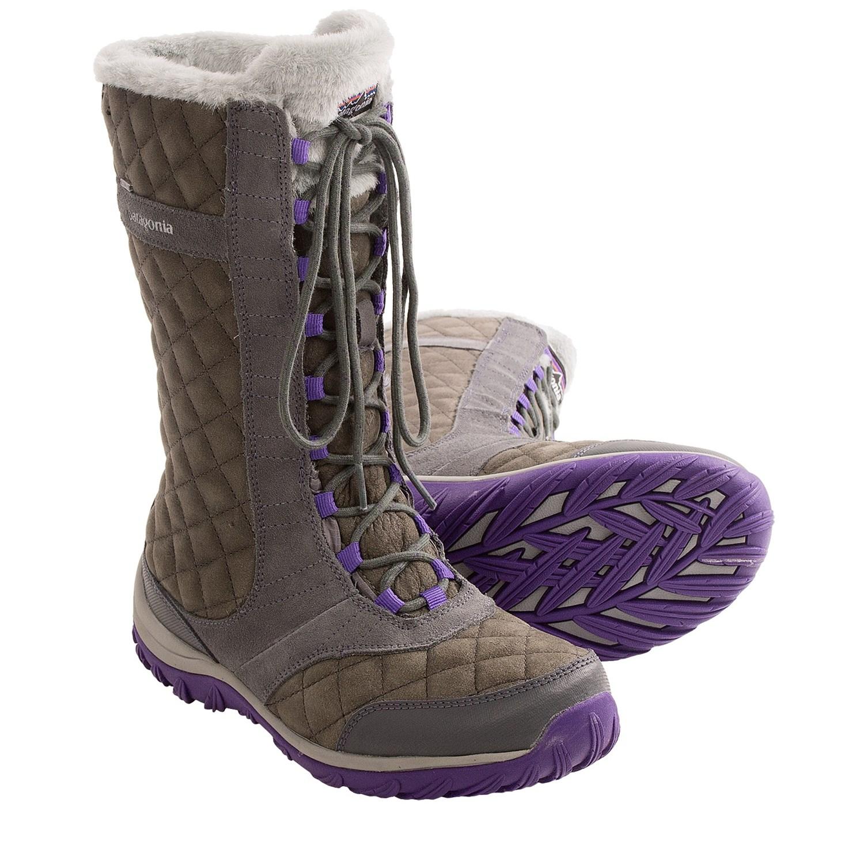 patagonia gray boots
