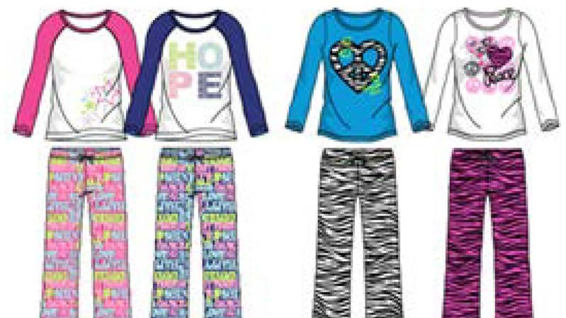 Recalled pajamas from Star Ride