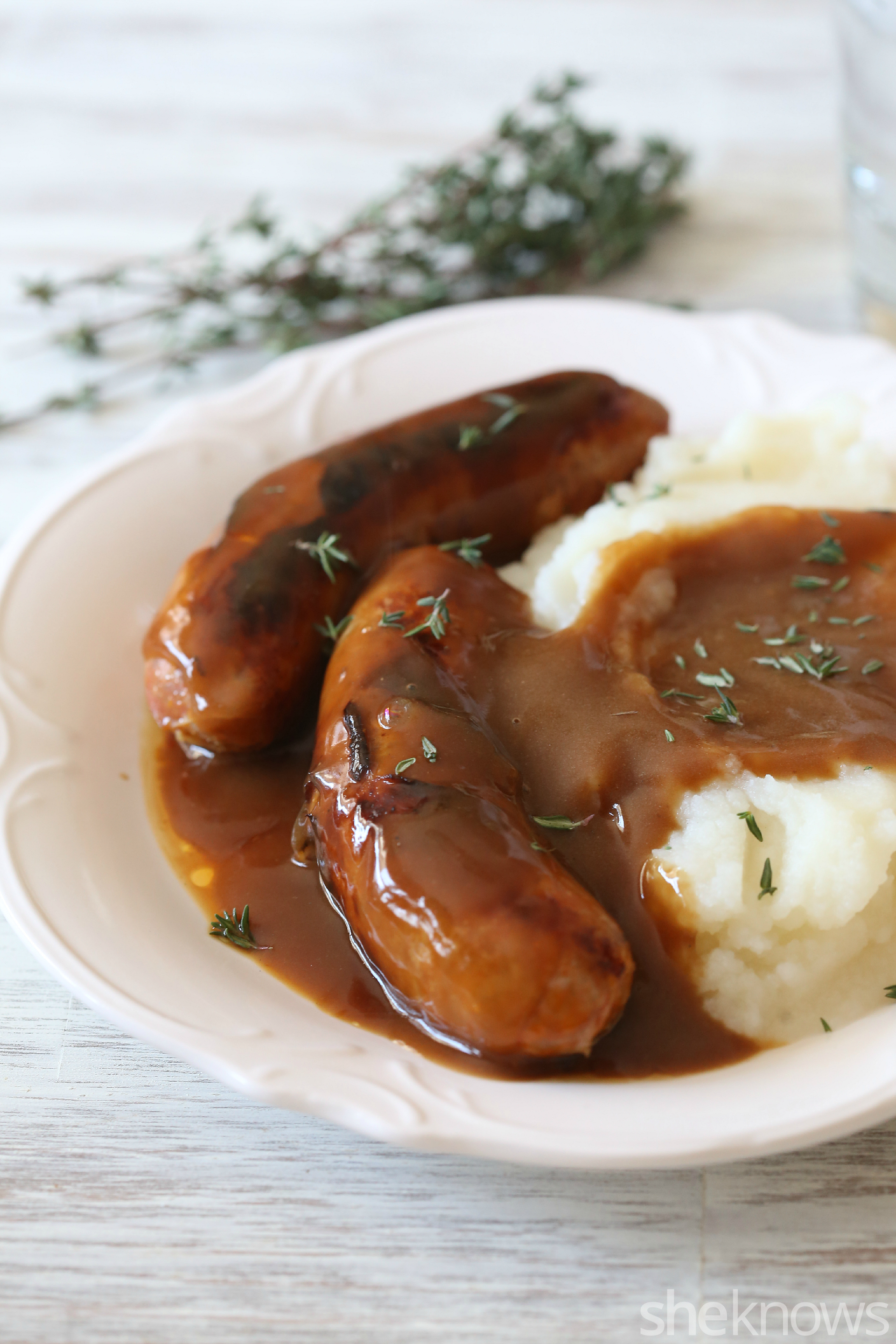 Make Guinness gravy to add to your bangers and mash