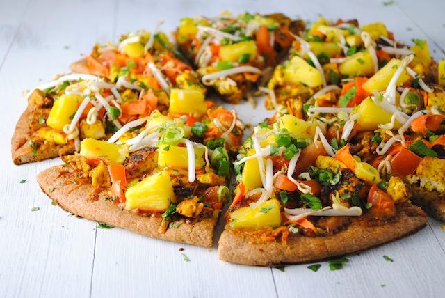 15. Thai tofu pizza with spicy peanut sauce recipe