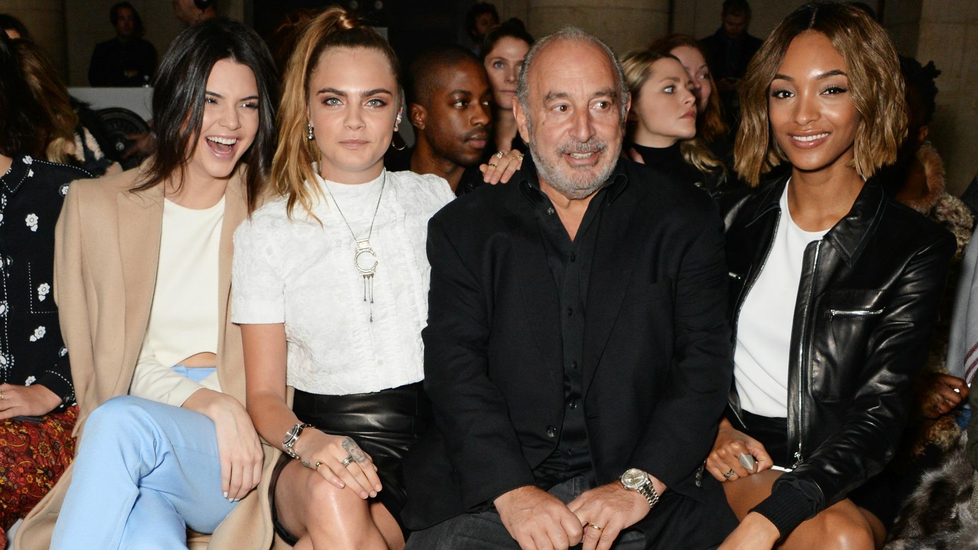 Front row at London Fashion Week AW15