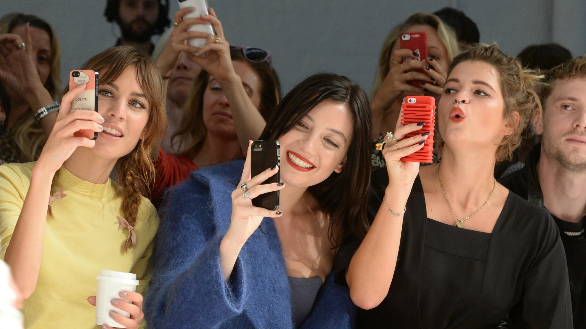 Celebrities love to take selfies at London Fashion Week