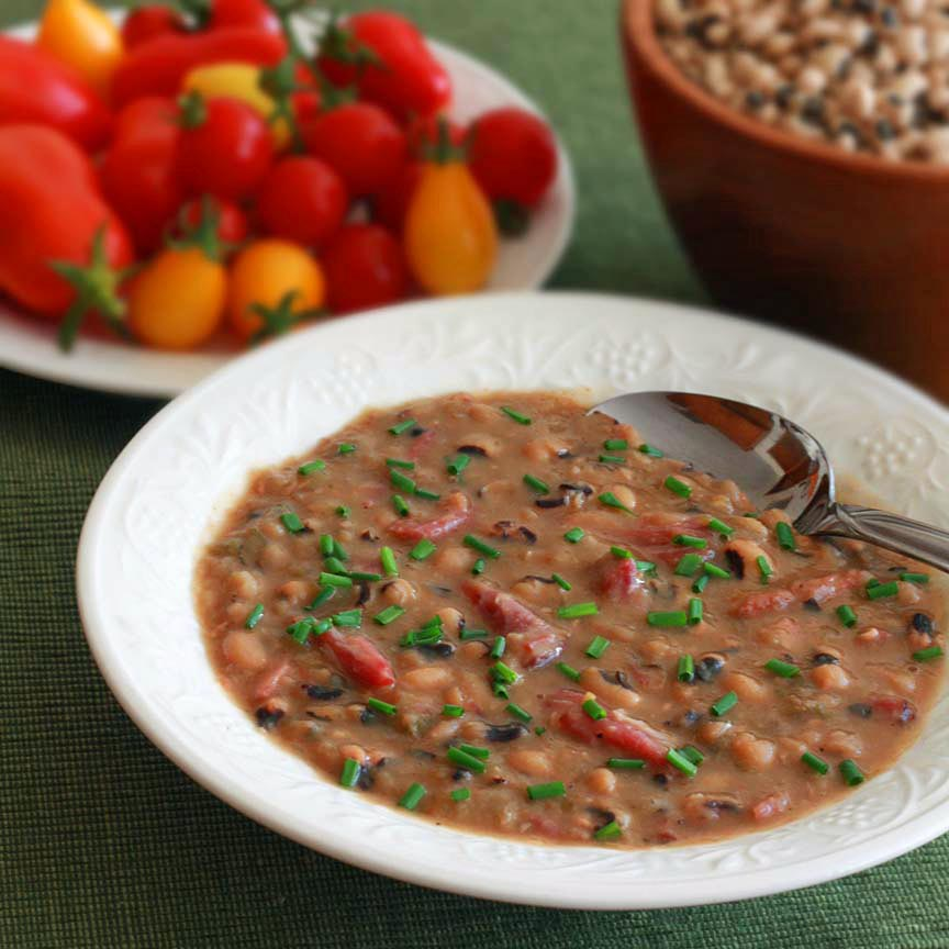 Soup Black Eyed Peas Ham Smoky Black-eyed Pea And Ham