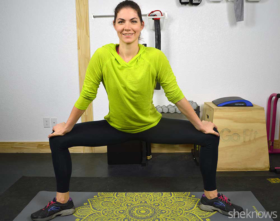 Leg Stretches After Squats Into a Wide-leg Squat With