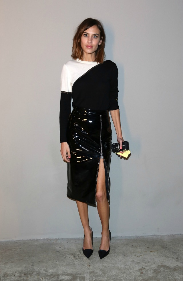 Alexa Chung at London Fashion Week AW15