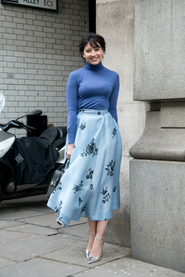 Daisy Lowe at London Fashion Week AW15