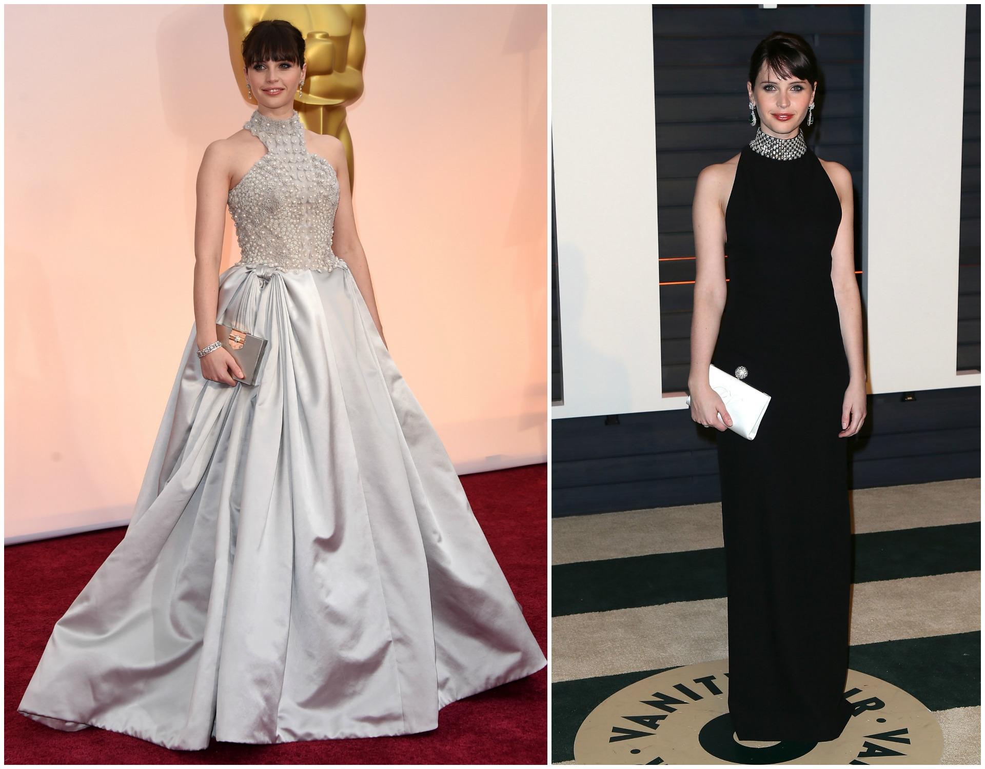 Felicity Jones at the 2015 Oscars