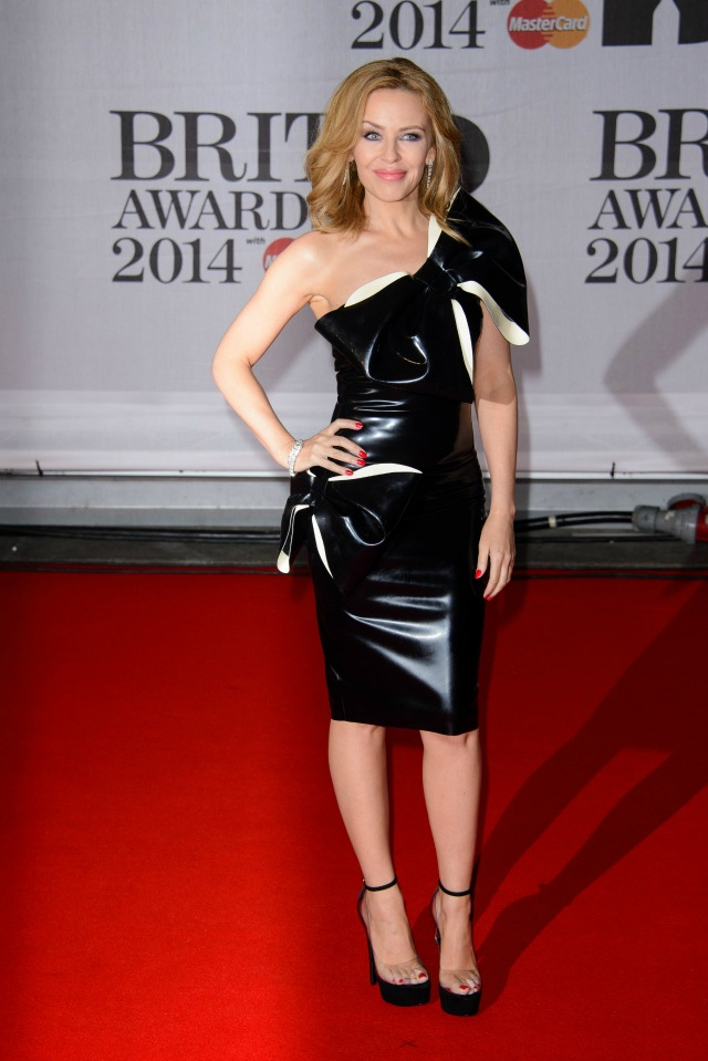 Kylie at the 2014 BRITS